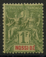 Nossi Bé (1894) N 39 * (charniere) - Unused Stamps