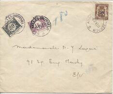 REF1632/ TP 568 S/L. C.Auderghem 8/2/1943 En Bleu 1,80 > E/V Taxée 1,80 Frs TTx 42-43 C.BXL 11/2/43 - Portomarken