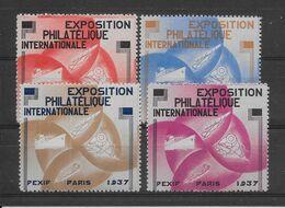 France Pexip 1937 - 4 Vignettes - Neuf ** Sans Charnière - TB - Erinnophilie