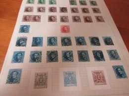 Blad Met Postzegels, - Sammlungen