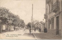 THONON LES BAINS BOULEVARD DES VALLEES LF 615 CARTE RARE - Thonon-les-Bains