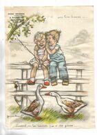 70 - Papier Publicitaire Pour L' épicerie-Boulangerie A. RICHETON, Bouligney ( Hte-Saône ) Illustré Par G. Bouret - Werbung