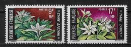POLYNESIE FRANCAISE - FLEURS - N° 64 ET 65 - NEUF** - Unused Stamps
