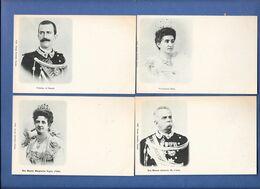 Lot 4 Cpa Famille Royale D'ITALIE. Roi Umberto, Reine Margherita, Princesse Elena, Prince Di Napoli - Italia