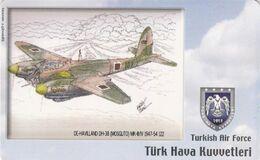 Turkey, TR-C-151, Turkish Air Force, De Havilland DH-98 (Mosquito) MK-III/IV 1947-54, Airplane, 2 Scans. - Türkei