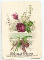Chromo  Gaufré  /  CHOCOLAT  POULAIN  /  Fleurs  Rose  Muguet - Poulain