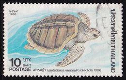 Thailand Stamp 1986 Marine Turtles 10 Baht - Used - Tailandia