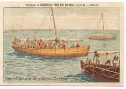 Chromo  /  CHOCOLAT  POULAIN  ORANGE  /  Les  Pêcheurs  De  Perles  ( Ceylan ) - Poulain