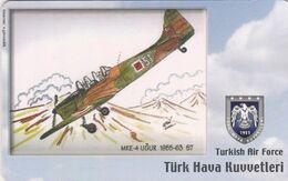Turkey, TR-C-163, Turkish Air Force, MKE-4 Ugur 1955-63, Airplane, 2 Scans. - Türkei