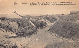 Knokke La Defense De La Côte Partie De La Grande Batterie Wilhelm II Kanon   M 4158 - Knokke