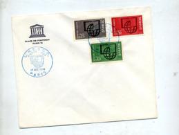 Lettre Fdc 1966 Paris Unesco - 1960-1969