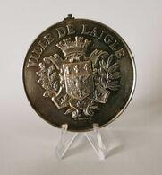 Très Belle Médaille Argent Ville De L'Aigle Concours Musical 1887 - Other