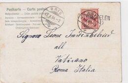 """Karte Geschrieben An Walliser Papst-Gardisten Im Vatikan - Stabstempel """"Obergestelen"""" - 1904  (00817) - Otros"""