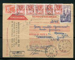 FRANCE- Carte De Contre Remboursement De 1955 - Postmark Collection (Covers)
