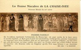 CPA - LA CHAISE-DIEU - DANSE MACABRE - PEINTURE MURALE - PREMIER PANNEAU - La Chaise Dieu