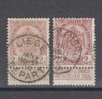 COB 82 Et 82a Oblitérés - 1893-1907 Coat Of Arms