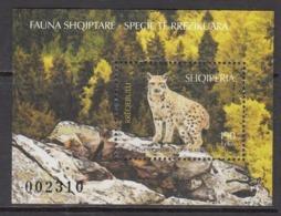 2017 Albania Wild Cat  Souvenir Sheet Complete   MNH @  BELOW FACE VALUE - Albanie