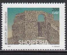 2017 Albania Europa Castles  Complete Set Of 1  MNH @  BELOW FACE VALUE - Albanie