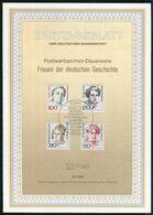 BRD - 1988 ETB 30/1988 # - Mi 1390 / 1393 - 100-170-240-350Pf       Frauen VI - FDC: Panes