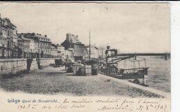 LIEGE / QUAI DE MAESTRICHT 1902 - Luik