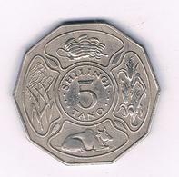 5 SHILLINGI  1971  TANZANIA /6590/ - Tanzanie