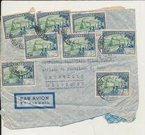 BELGIAN CONGO BELGE LETTRE DEFRAICHIE DE LEO. EN 1948 VERS BRUXELLES - 1947-60: Covers