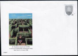 Slowenko, 1998  U 29, 20. Vollversammlung Der UNO Zu Drogen, 20th UN General Assembly On Drugs, - Postal Stationery