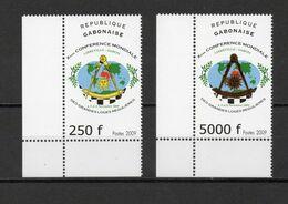 GABON N° 1189 + 1190   NEUFS SANS CHARNIERE COTE  ? €  GRANDES LOGES REGULIERES - Gabón (1960-...)