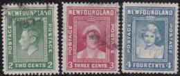 Newfoundland  .    SG  .  268/270    .    O      .  Cancelled      .   /   .   Gebruikt - 1908-1947