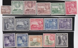 Malta   .    SG  .     217/226     .     *      .   Mint-hinged      .   /   .   Ongebruikt - Malta (...-1964)