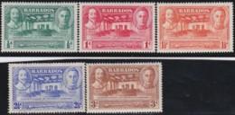 Barbados  .    SG        .     257/261      .      *         .     Mint-hinged     .   /   .   Ongebruikt - Barbados (...-1966)