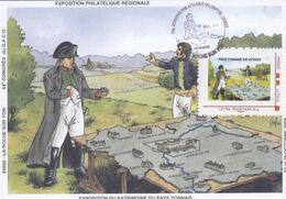 Carte Maximum Napoléon Oblitération La Roche Sur Yon Du 24 10 2009  64ème Congrès Philatélique - 2000-09