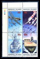 Marshall Islands 1991 / Aviation Aircrafts War Ships MNH Aviación Aviones Barcos De Guerra / C3922  5-24 - Aerei
