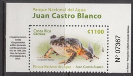 2017 Costa Rica National Park Frog Amphibian  Complete Set Of 1 MNH - Costa Rica