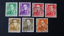 Norway - 1958/59 - Mi:NO 418-22,426-7 O - Look Scan - Usati