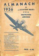 Almanach De L'aviation Belge Et De La Protection Aérienne 1936 - Livres, BD, Revues