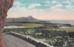 Honolulu Oahu Hawaii, Diamond Head From Punch Bowl, C1900s/10s Vintage Postcard - Honolulu