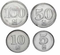 Nor Korea Set Of 4 Coins 2005 UNC - Corea Del Nord