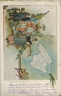 """L56 - MAPA ISLA DE MALLORCA. COLECCIÓN """"REGIONAL"""", SERIE 2ª, Nº 1. J. TRUYOL FOTÓGRAFO. CIRCULADA 1903 - Mallorca"""