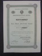 ALLEMAGNE - STRASBOURG 1886 - TITRE DE 3 MARKS - VOIR SCAN - Azioni & Titoli