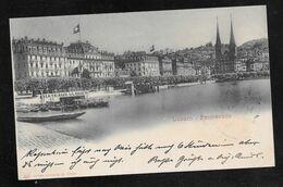 Switzerland - Luzern Promenade - Posted To Wien 1900 - LU Lucerne