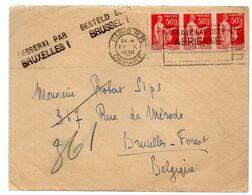 France Vers Belgique - Gff DESSERVI PAR BRUXELLES 1 - 1936 - Paris   - RW01 - Poststempel