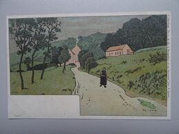 """Carte Postale Amédée Lynen """"De-ci De-là"""" à Bruxelles Et En Brabant N° 97 Environs Du Château De La Motte Grez-Doiceau - Lynen, Amédée-Ernest"""