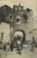 L59 - CÁCERES. ARCO DEL CRISTO. EDICIÓN M.C. FOTOTIPIA J. BIENAIMÉ. MANUSCRITA Y CIRCULADA190 - Cáceres