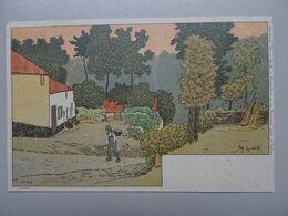 """Carte Postale Amédée Lynen """"De-ci De-là"""" à Bruxelles Et En Brabant N° 99 Neder-Over-Heembeek - Lynen, Amédée-Ernest"""