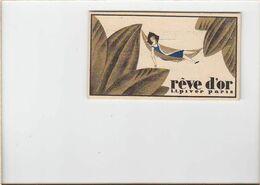 Carte Parfumée / Reve D'or De Piver / Cachet Coiffeur Violette, Maintenon - Documentos Antiguos