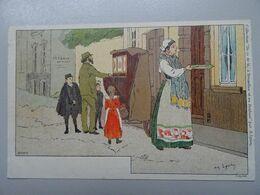 """Carte Postale Amédée Lynen """"De-ci De-là"""" à Bruxelles Et En Brabant N°109 Bruxelles. Rue Du Faubourg (Brussel) - Lynen, Amédée-Ernest"""