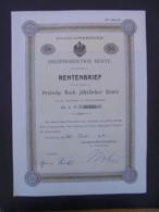 ALLEMAGNE - STRASBOURG 1913 - TITRE De 30 MARKS  - VOIR SCAN - Azioni & Titoli