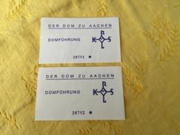 2 Billets D'entrée Pour Visiter La Cathédrale D'Aix-la-Chapelle (Allemagne) - Tickets D'entrée