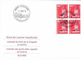 Schweiz, Nr. 1511 Viererblock-FDC - FDC